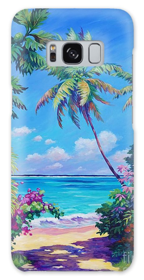 Art Galaxy Case featuring the painting Ocean View with Breadfruit Tree by John Clark