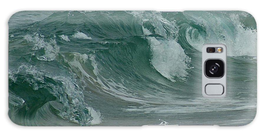 Ocean Galaxy S8 Case featuring the mixed media Ocean Waves 2 by Ernie Echols