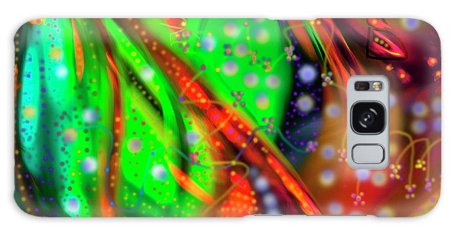 Oceanic Abstract Digital Painting Galaxy S8 Case featuring the painting Oceanic Abstract Painting by Don Wright