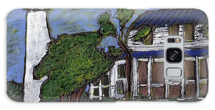 Light House Galaxy Case featuring the painting Ocracoke Island Light House by Wayne Potrafka