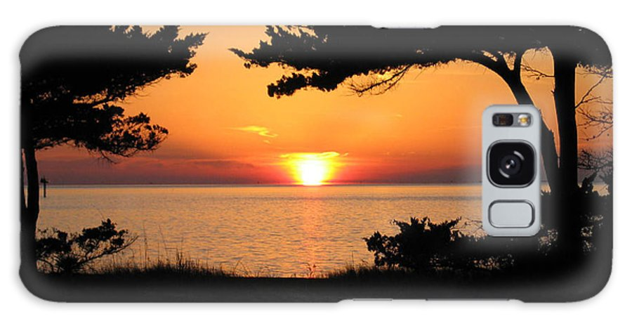 Ocracoke Galaxy S8 Case featuring the photograph Ocracoke Island Winter Sunset by Wayne Potrafka