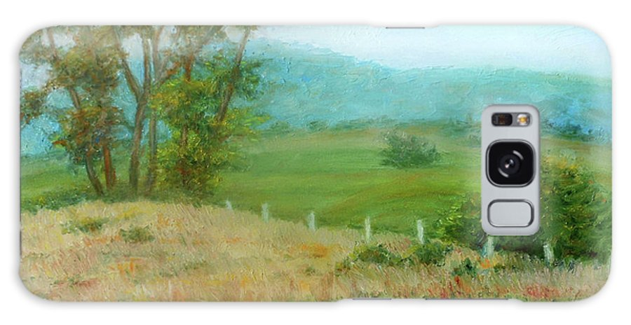 Country Scene Galaxy S8 Case featuring the painting October Hills In Middletown Md by Nancy Heindl