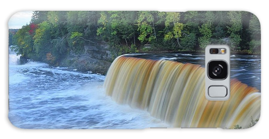 Tahquamenon Falls Galaxy S8 Case featuring the photograph October Morning At Upper Tahquamenon Falls by Kathryn Lund Johnson