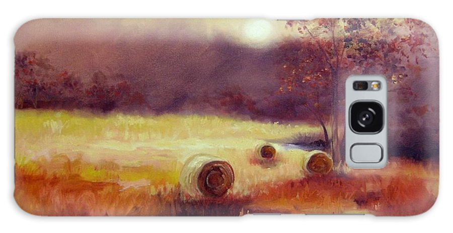 Fall Landscapes Galaxy S8 Case featuring the painting October Pasture by Ginger Concepcion