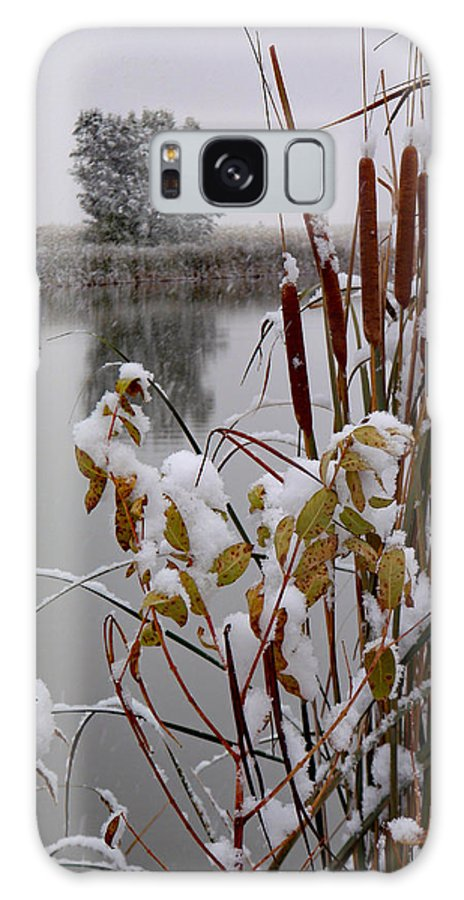 Jim Galaxy S8 Case featuring the photograph October Snow by James Peterson