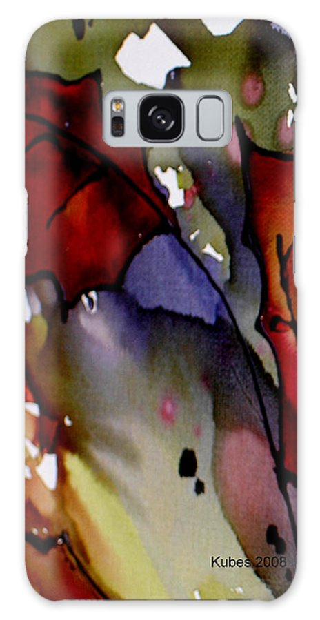 Leaf Galaxy S8 Case featuring the mixed media Octoberfirst by Susan Kubes