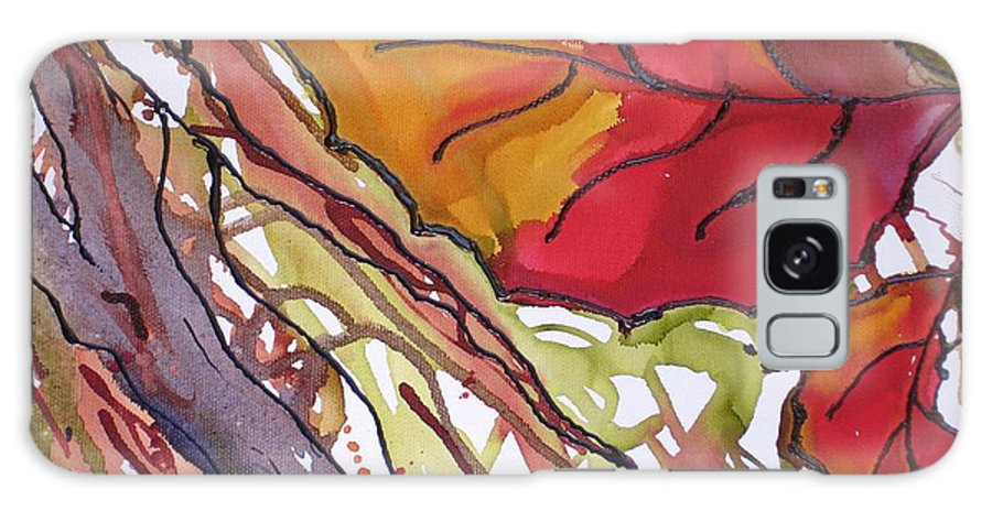 Leaf Galaxy S8 Case featuring the mixed media Octobersecond by Susan Kubes