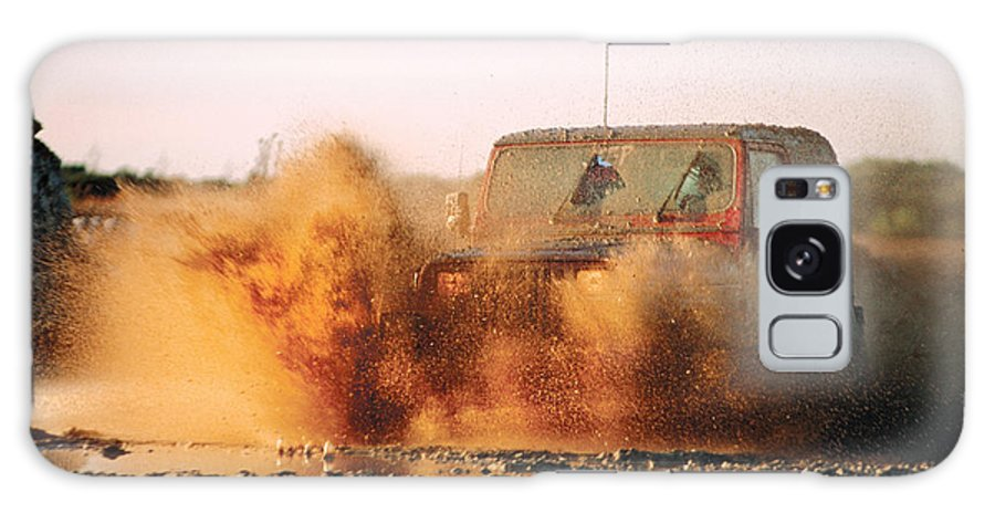 Off Road Driving Galaxy S8 Case featuring the photograph Off Road Mud Splash-1 by Steve Somerville