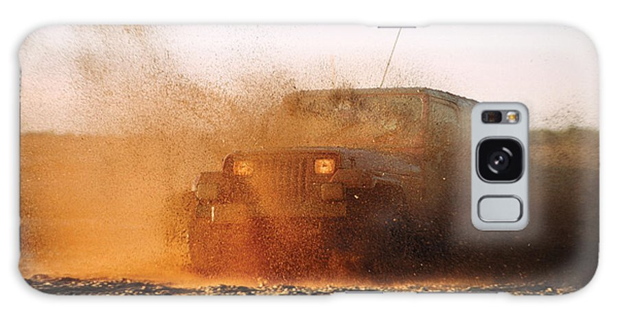 Off Road Vehicle Galaxy S8 Case featuring the photograph Off Road Mud Splash-2 by Steve Somerville