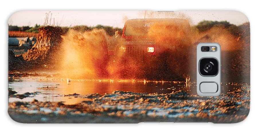 Four Wheel Driving Galaxy S8 Case featuring the photograph Off Road Mud Splash-4 by Steve Somerville