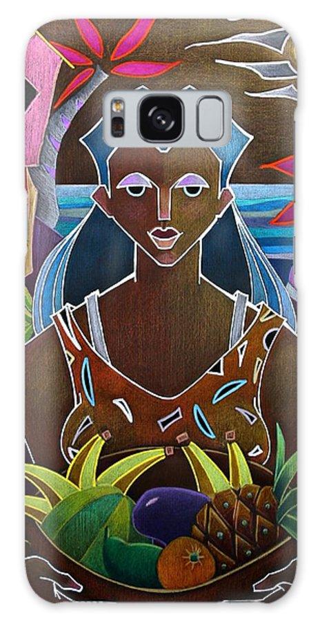 Girl Galaxy Case featuring the painting Ofrendas de mi tierra II by Oscar Ortiz