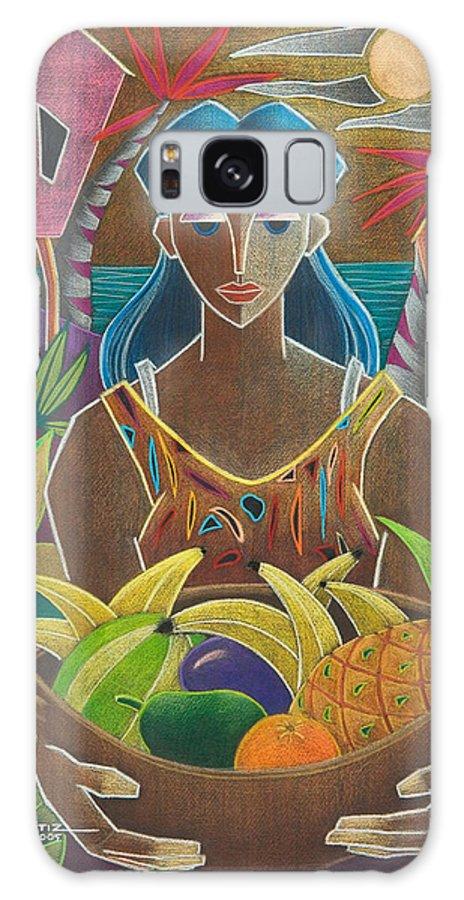 Female Galaxy Case featuring the painting Ofrendas De Mi Tierra by Oscar Ortiz