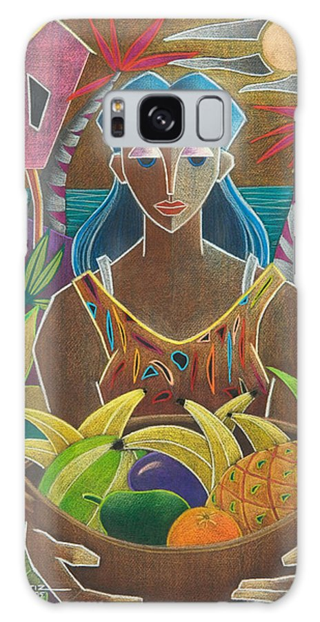 Female Galaxy Case featuring the painting Ofrendas de mi tierra by Oscar Ortiz