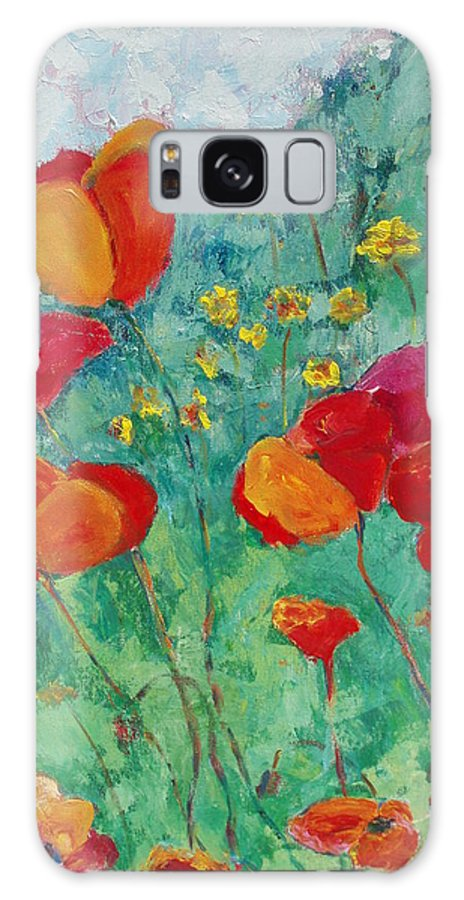 Flowers Galaxy S8 Case featuring the painting Oh Happy Day by Tara Moorman