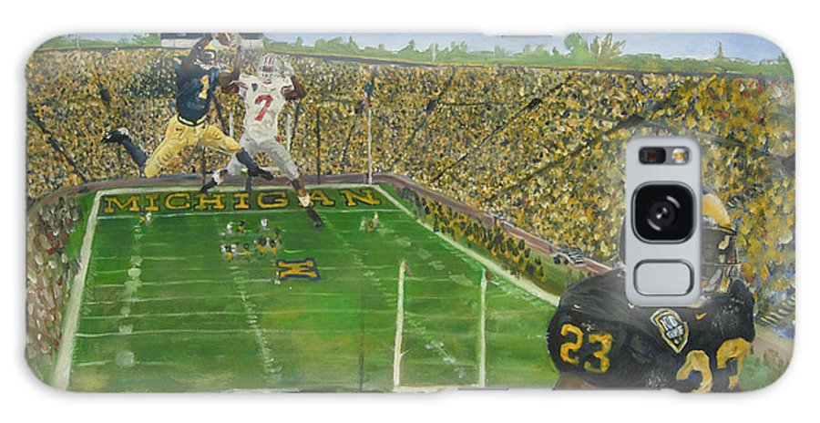 Michigan Galaxy S8 Case featuring the painting Ohio State Vs. Michigan 100th Game by Travis Day