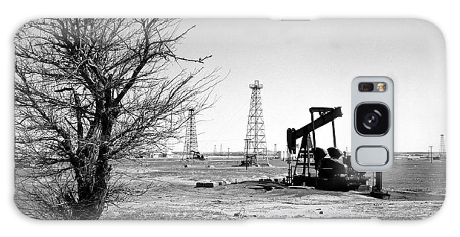 Oil Galaxy Case featuring the photograph Oklahoma Oil Field by Larry Keahey