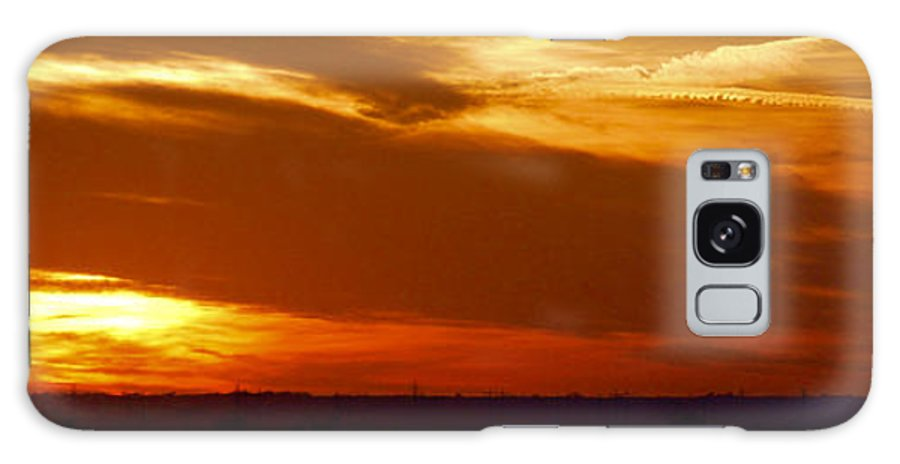 Landscape Galaxy S8 Case featuring the photograph Oklahoma Sunset by Larry Keahey