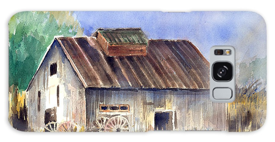 Barn Galaxy S8 Case featuring the painting Old Barn by Arline Wagner