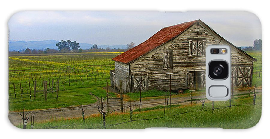 Barn Galaxy S8 Case featuring the photograph Old Barn In The Mustard Fields by Tom Reynen