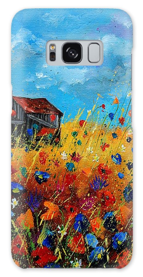 Poppies Galaxy S8 Case featuring the painting Old Barn by Pol Ledent