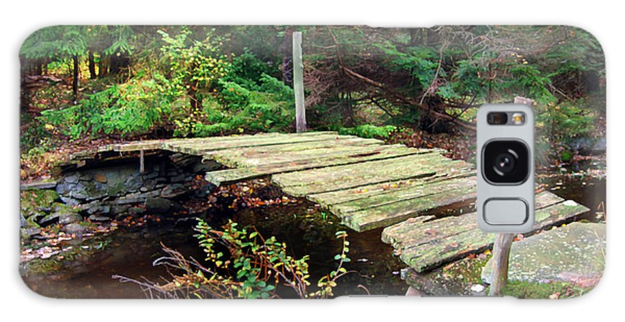 Bridge Old Relic Ancient Broken Decay Derelict Stream River Crossing Forest Woods Galaxy S8 Case featuring the photograph Old Bridge by Francesa Miller