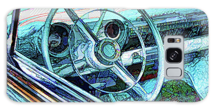 Old Car Wheel Galaxy S8 Case featuring the painting Old Car Wheel by Jeelan Clark