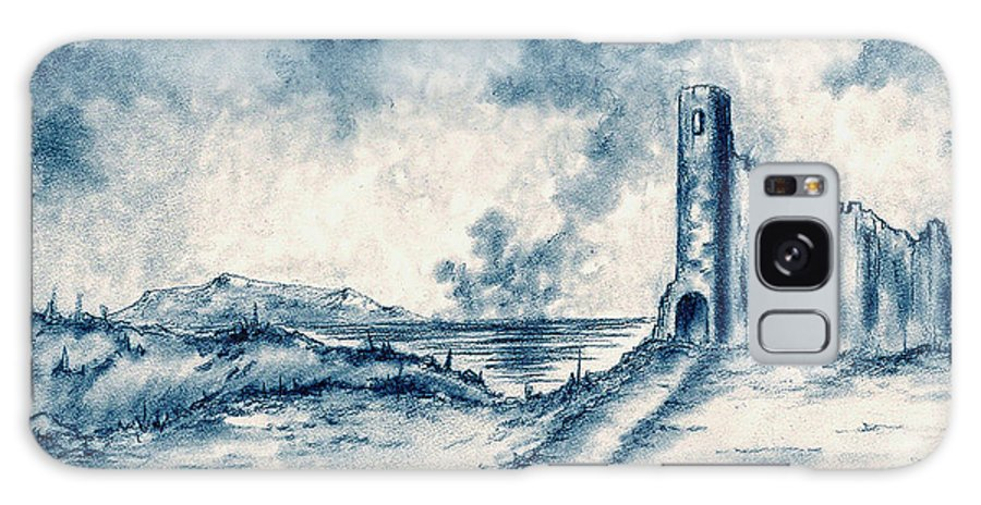 Castle Galaxy S8 Case featuring the drawing Old Castle Ruins by Michael Vigliotti