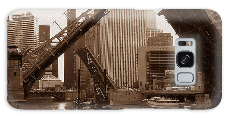 Chicago Galaxy S8 Case featuring the photograph Old Chicago River Bridges by Peter Potter