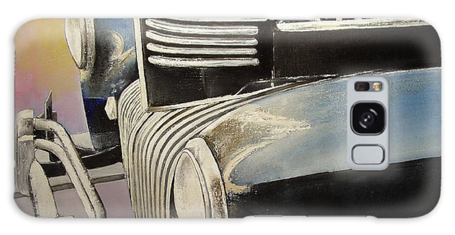 Old Galaxy Case featuring the painting Old Chrysler by Tomas Castano