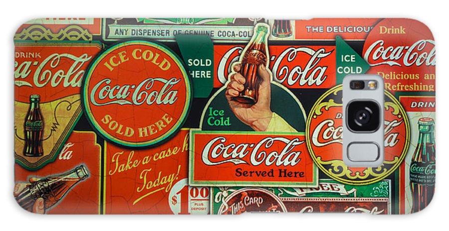 Old Coca-cola Sign Collage Galaxy S8 Case featuring the photograph Old Coca-cola Sign Collage by Mitch Shindelbower