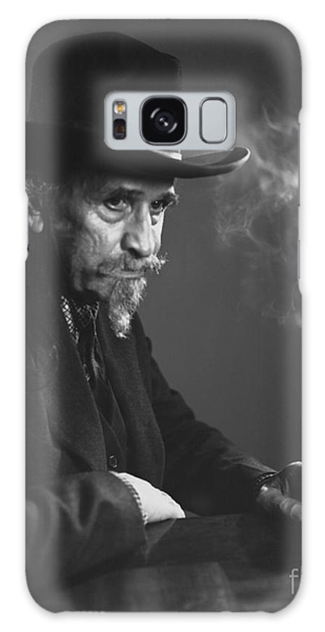 Cowboy Galaxy S8 Case featuring the photograph Old Cowboy by Larry Keahey