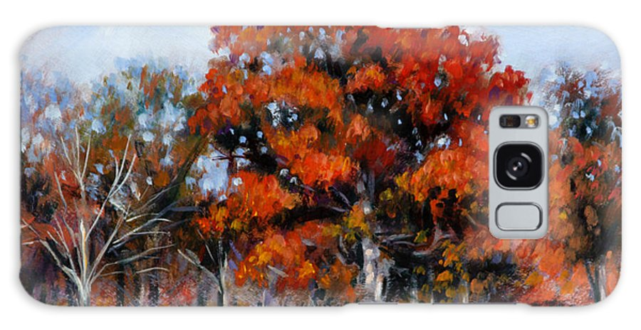 Fall Galaxy Case featuring the painting Old Fall Oak by John Lautermilch