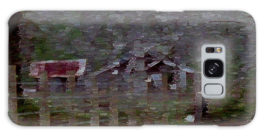 Impressionism Galaxy S8 Case featuring the photograph Old Farm House-impressionism by Debbie May