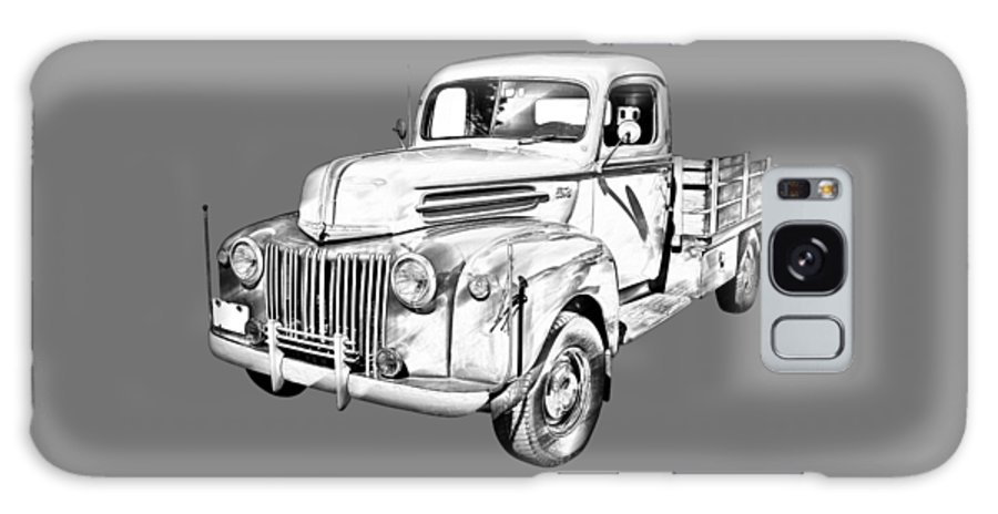 Antique Galaxy S8 Case featuring the photograph Old Flat Bed Ford Work Truck Illustration by Keith Webber Jr