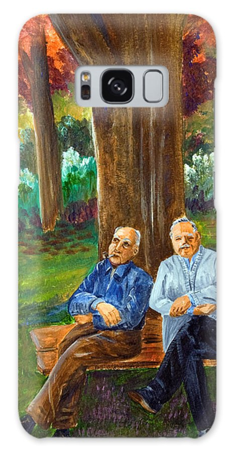 Men Galaxy S8 Case featuring the painting Old Friends by Dorothy Riley