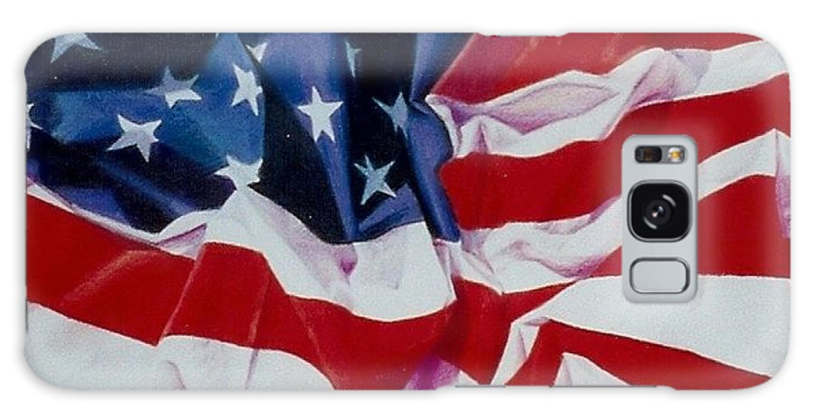 Red Galaxy S8 Case featuring the painting Old Glory 1 by Constance Drescher