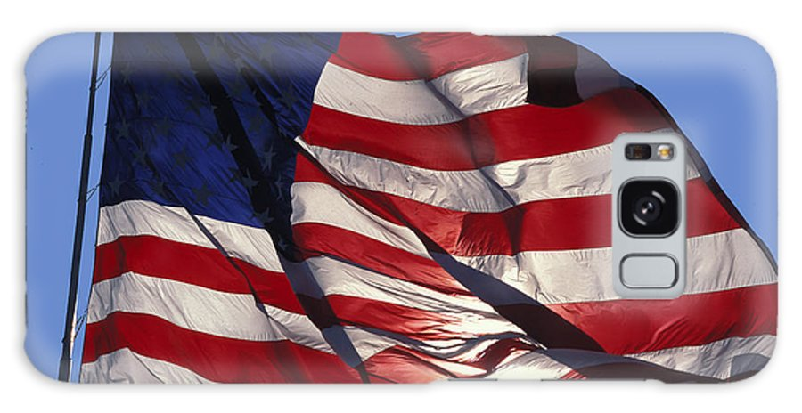 American Galaxy Case featuring the photograph Old Glory by Carl Purcell
