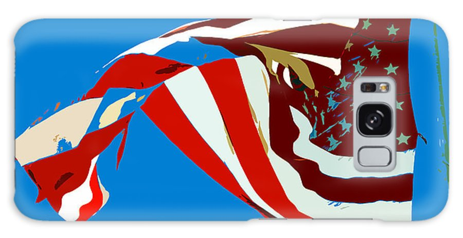 Old Glory Galaxy S8 Case featuring the painting Old Glory Flying by David Lee Thompson