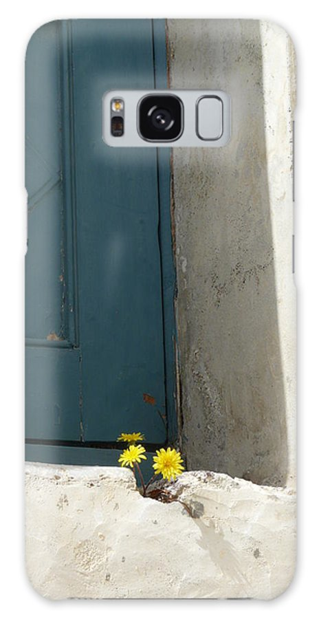 Old Galaxy Case featuring the photograph Old Greek Door by Valerie Ornstein