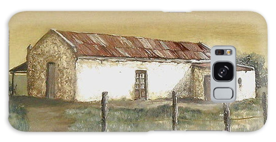 Old House Landscape Country Galaxy S8 Case featuring the painting Old House by Natalia Tejera