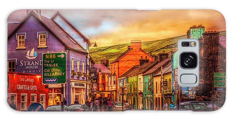 Barn Galaxy S8 Case featuring the photograph Old Irish Town The Dingle Peninsula Late Sunset by Debra and Dave Vanderlaan