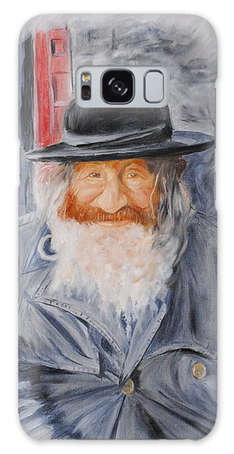 Jerusalem Galaxy S8 Case featuring the painting Old Man Of Jerusalem by Quwatha Valentine