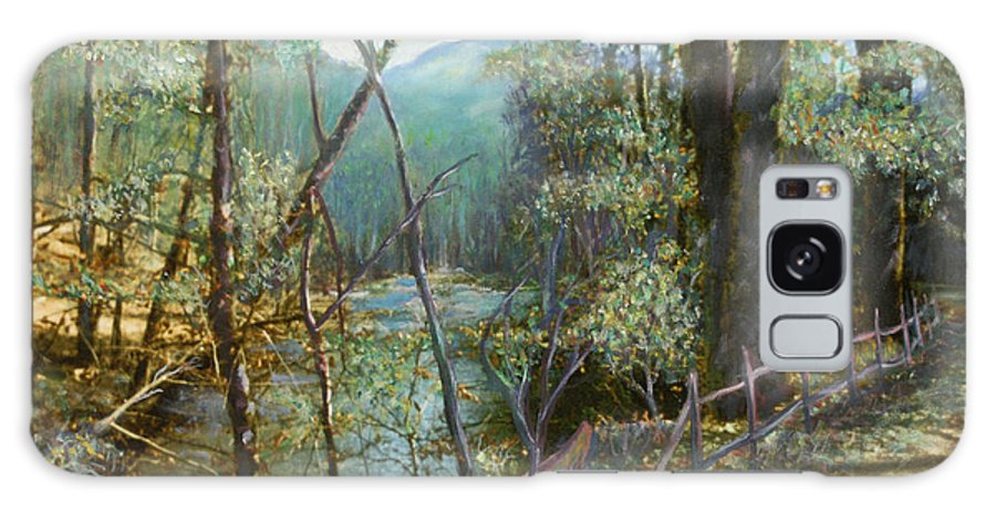River; Trees; Landscape Galaxy Case featuring the painting Old Man River by Ben Kiger
