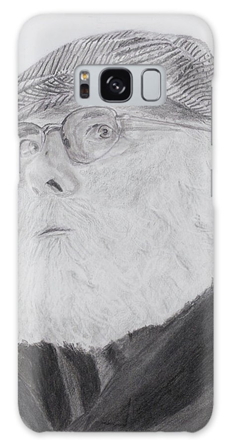 Portrait Galaxy S8 Case featuring the drawing Old Man With Beard by Quwatha Valentine