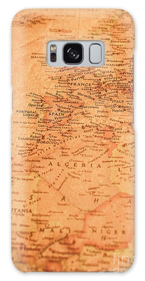 Map Galaxy S8 Case featuring the photograph Old Maritime Map by Jorgo Photography - Wall Art Gallery
