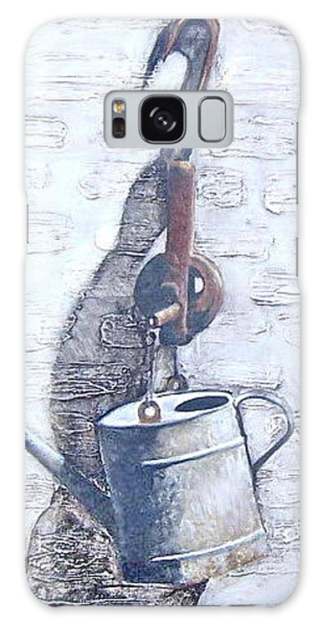 Old Metal Still Life Galaxy Case featuring the painting Old Metal by Natalia Tejera