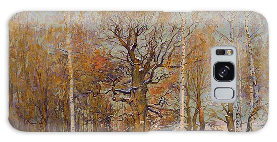 Landscape Galaxy S8 Case featuring the painting Old Oak-tree In Kolomenskoye by Simon Kozhin