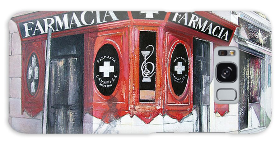 Pharmacy Galaxy Case featuring the painting Old Pharmacy by Tomas Castano