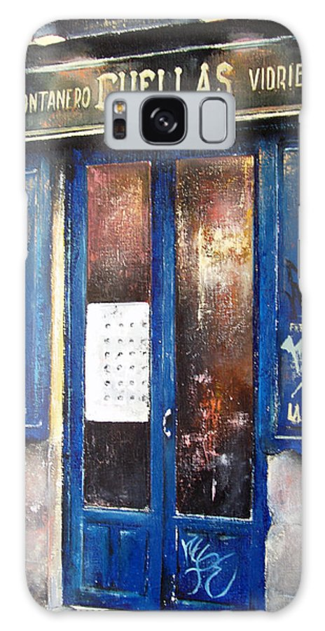 Old Galaxy S8 Case featuring the painting Old Plumbing-Madrid by Tomas Castano