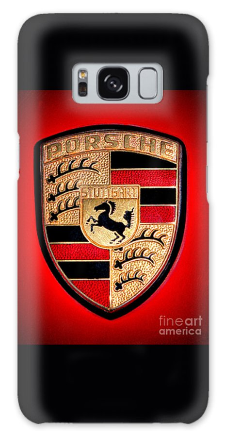 Porsche Galaxy Case featuring the photograph Old Porsche Badge by Olivier Le Queinec